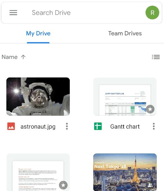 تطبيق جوجل درايف يحصل على تصميم الماتريال ديزاين
