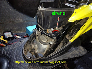 Cara pasang alarm motor remote pada Suzuki Nex Fi