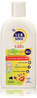 Protect children sensitive skin, Sunsense Kids UVA & UVB Broad Spectrum Lotion SPF50+