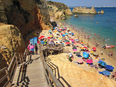Praia Dona Ana beach in Algarve