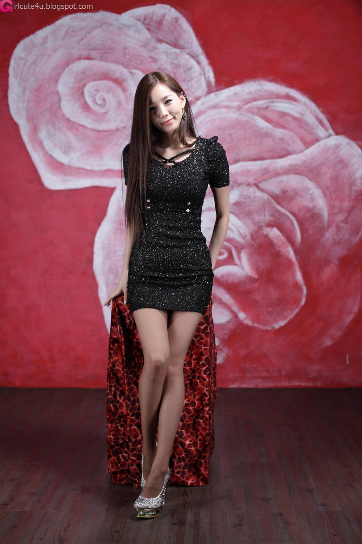 lee ji min - sparkle black mini dress