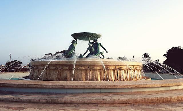 Valetta, Malta fountain