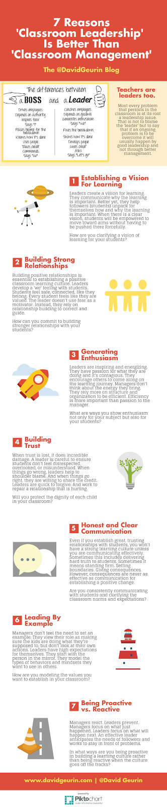 The @DavidGeurin Blog: 7 Reasons 'Classroom Leadership' Is Better