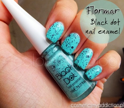 Flormar, Black Dot BD02 - makiem po paznokciach :)