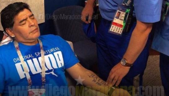 """""""Hay Diego para rato"""", aclara Maradona tras sufrir descompensación"""