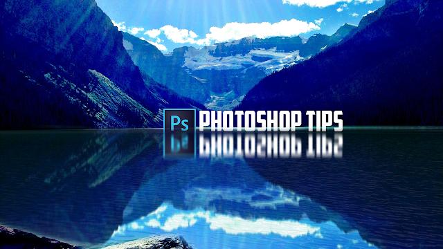 إنعكاس الصور على المياه Photoshop Tutorial