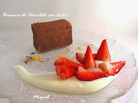 Brownie de chocolate con leche