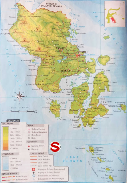 Gambar Peta Atlas Provinsi Sulawesi Tenggara