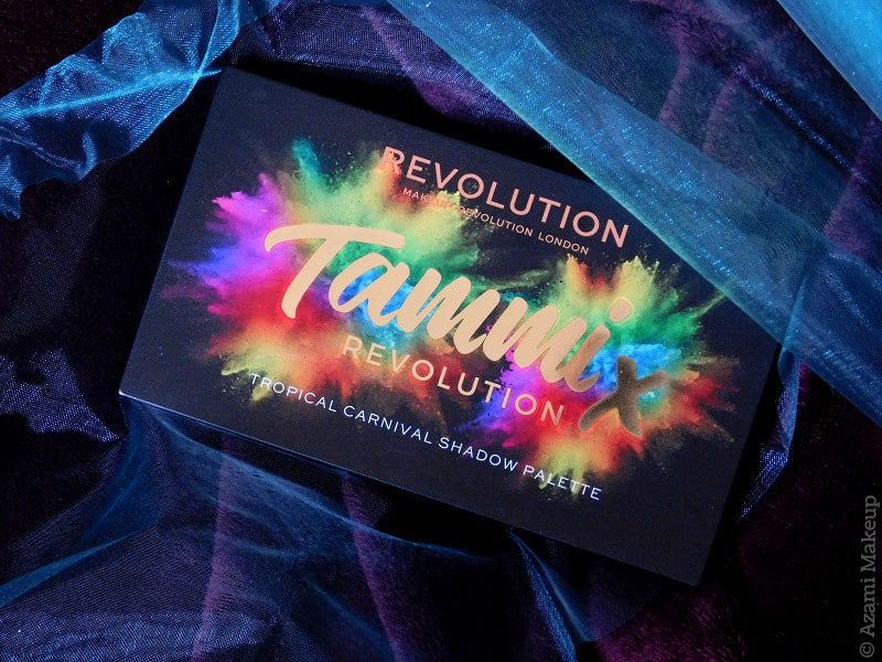 Makeup Revolution & Tammi @makeupbytammi - Tropical Carnival Eyeshadow Palette Review & Swatches - Avis Colorful Matte Foil Shimmer
