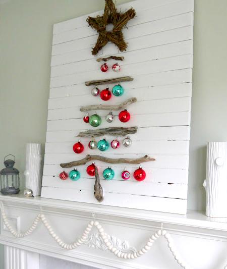 coastal Christmas mantels