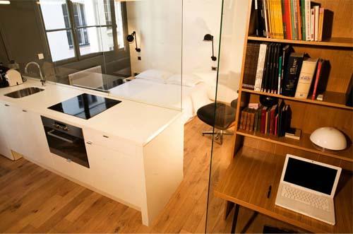 Dividi gli spazi di casa con pareti divisorie in vetro - Cucina con vetrata a vista ...