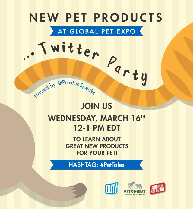 Oz the Terrier is panelist at #PetTales Twitter Party to announce launch of new products at Global Pet Expo