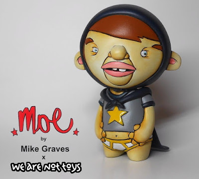 Designer Con 2016 Exclusive MOE Caped Crusader Edition Resin Figure by Mike Graves x We Are Not Toys