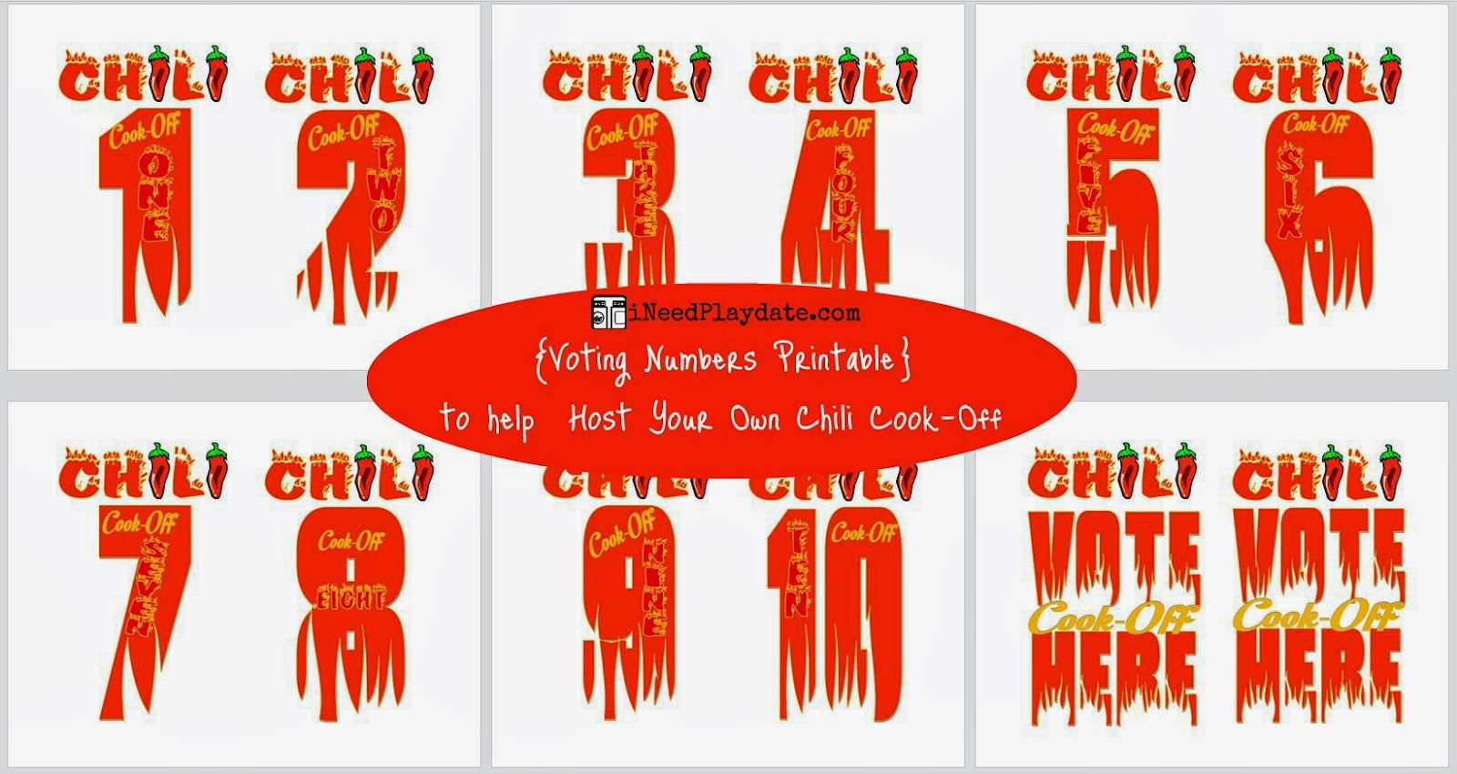 voting numbers for chili cook-off