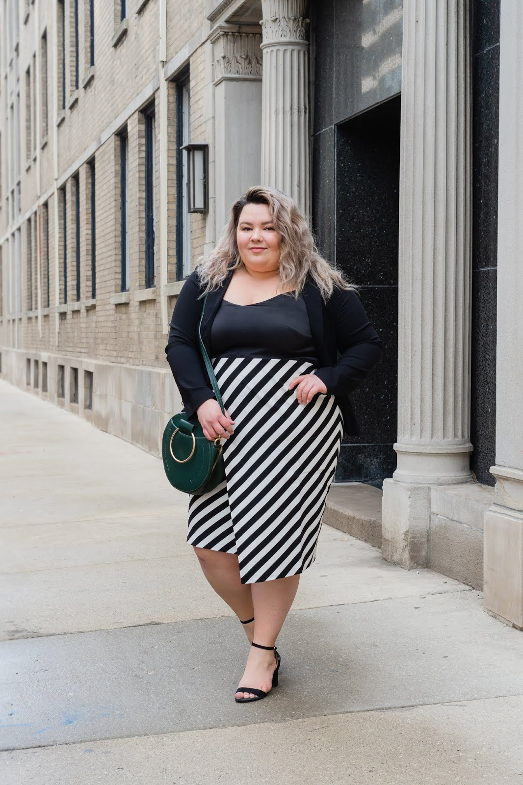 Chicago Plus Size Petite Fashion Blogger, YouTuber, and model Natalie Craig, of Natalie in the City, reviews Maree Pour Tai's plus size workwear.