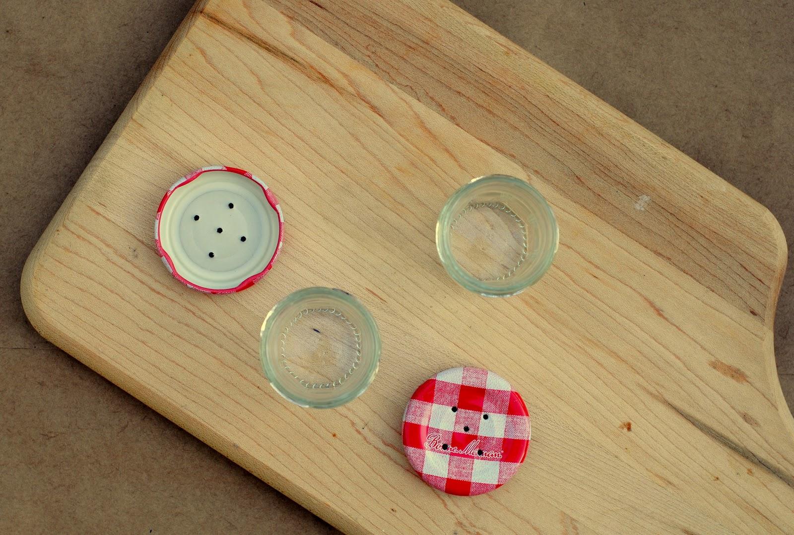 Diy Tiny Jam Jar Salt Pepper Shakers
