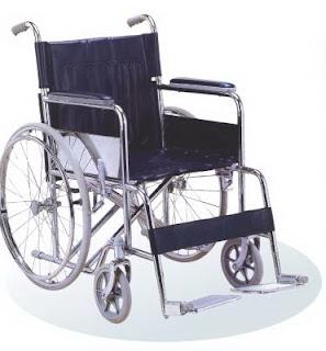 kursi roda ukuran lebar dan besar