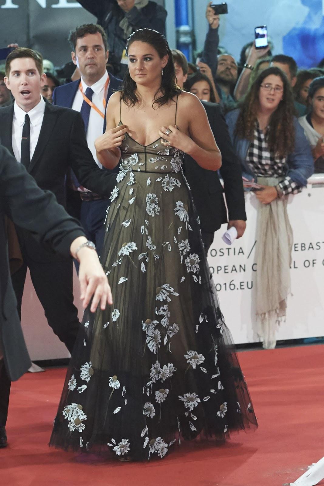 Shailene Woodley Arrives at 'Snowden' Premiere at San Sebastian International Film Festival