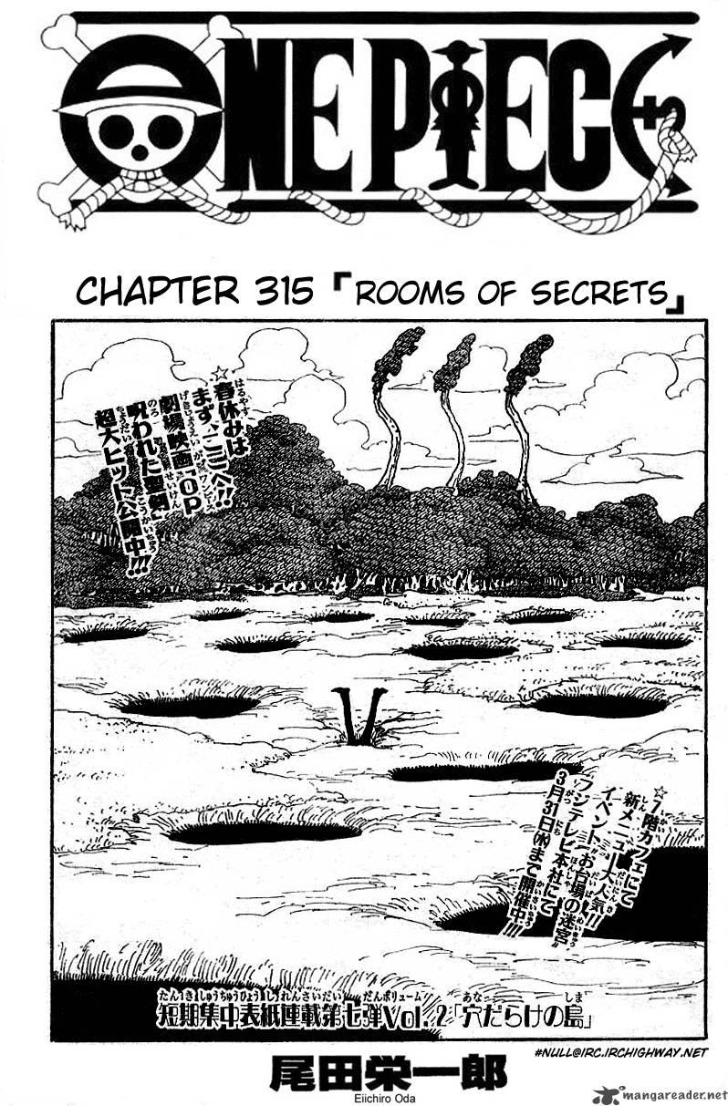 One Piece Ch 315