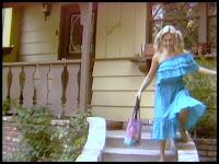 Screen shot featuring Belma Kora aka Selma Kora from BOARDINGHOUSE (1982), shot at 20950 Ave San Luis in Woodland Hills, California