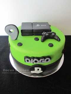 Bolo de aniversário PlayStation
