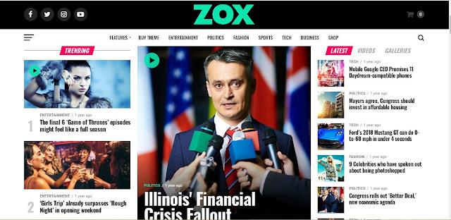 Theme Zox News Wordpress (100% Original)