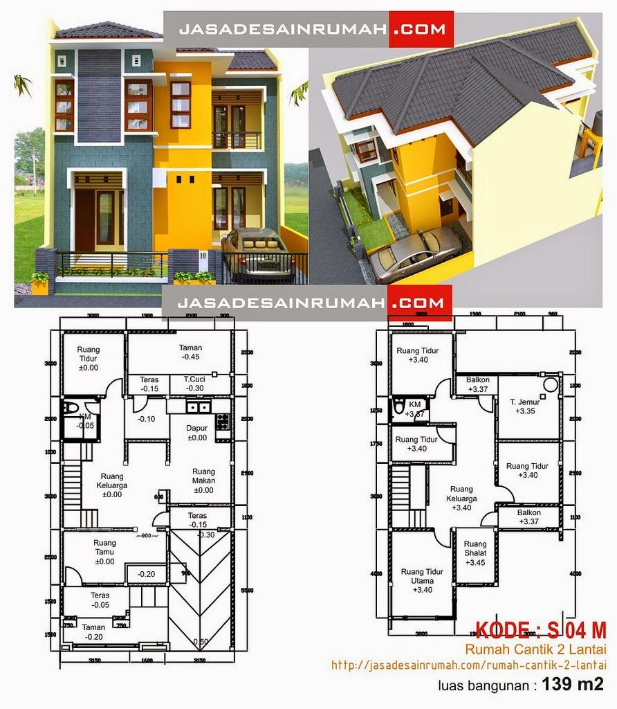 Desain  Rumah  Minimalis 2 Lantai Lengkap  MODEL RUMAH  UNIK