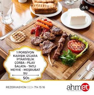 ahmet köfteci ramazan menü fiyatları inegöl ramazan iftar fiyatları bursa ramazan menüleri