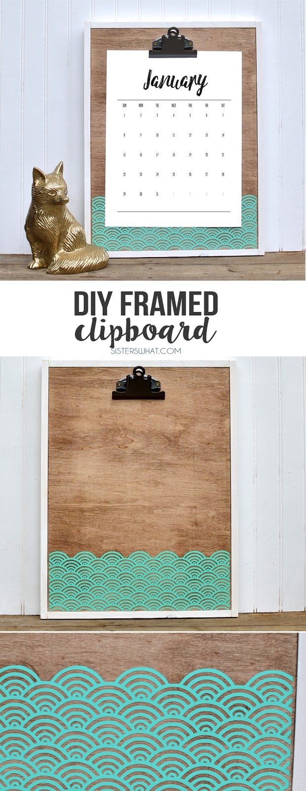 This is a DIY framed clipboard that is easy to customize to any size and add some color with vinyl!