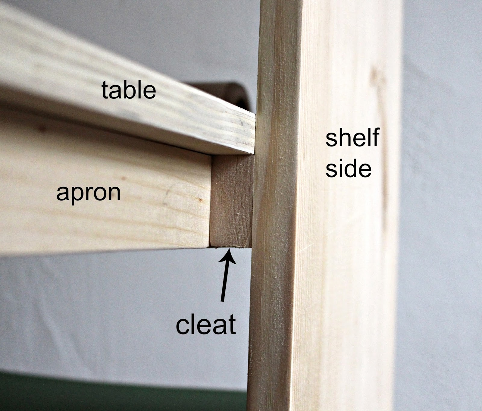 how to build a kids art table with storage shelves