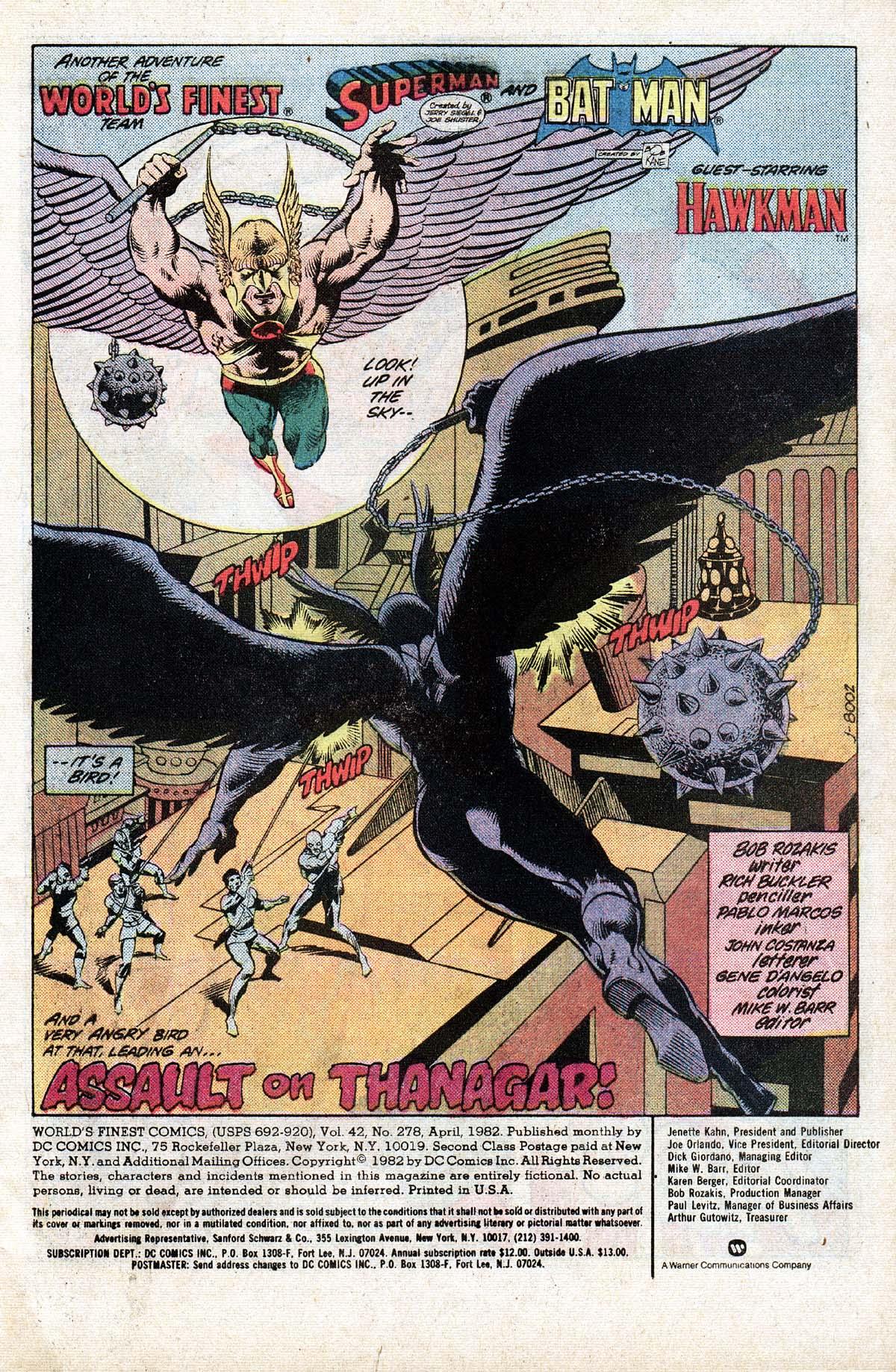 Read online World's Finest Comics comic -  Issue #278 - 2