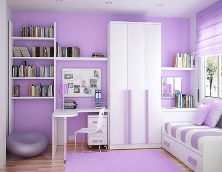 desain kamar tidur bernuansa ungu - desain rumah minimalis