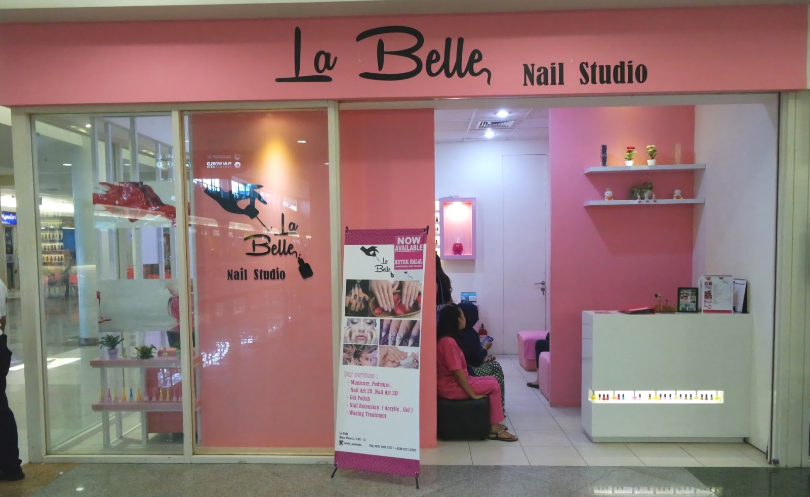 Introducing La Belle Nail Studio Sponsored Pink And Undecided Art Kutek Muslimah Kid The Cozy Spacious Is Dominated By White