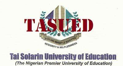 TASUED | Tai Solarin University of Education Post-UTME Admission Screening Form 2017/2018