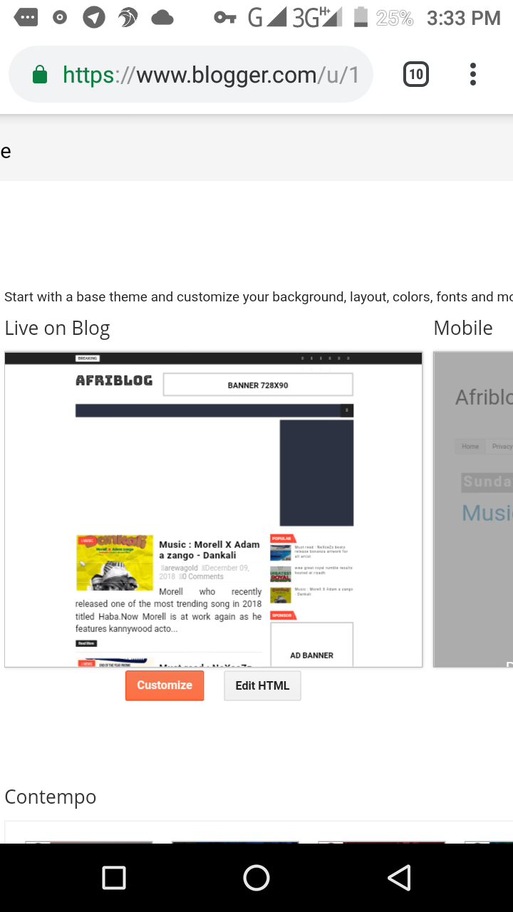How to edit blogger template on PC and Android - Afriblog