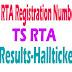 Telangana TS RTA Registration Number Status | Telangana RTA Tax Status
