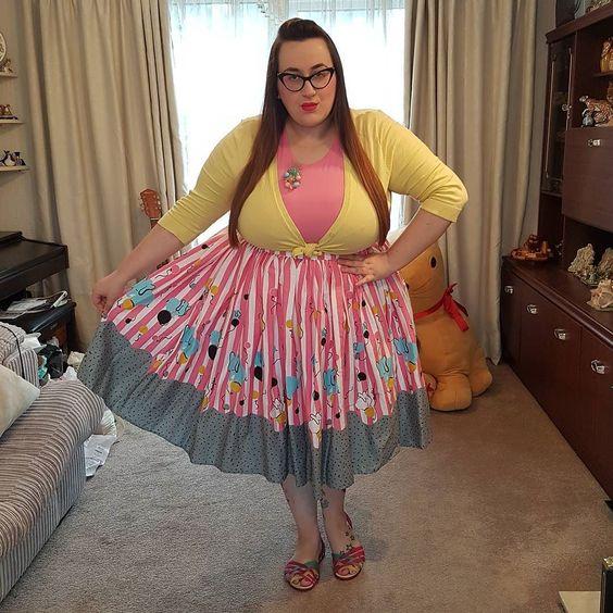plus size pin up girl clothing elephant skirt