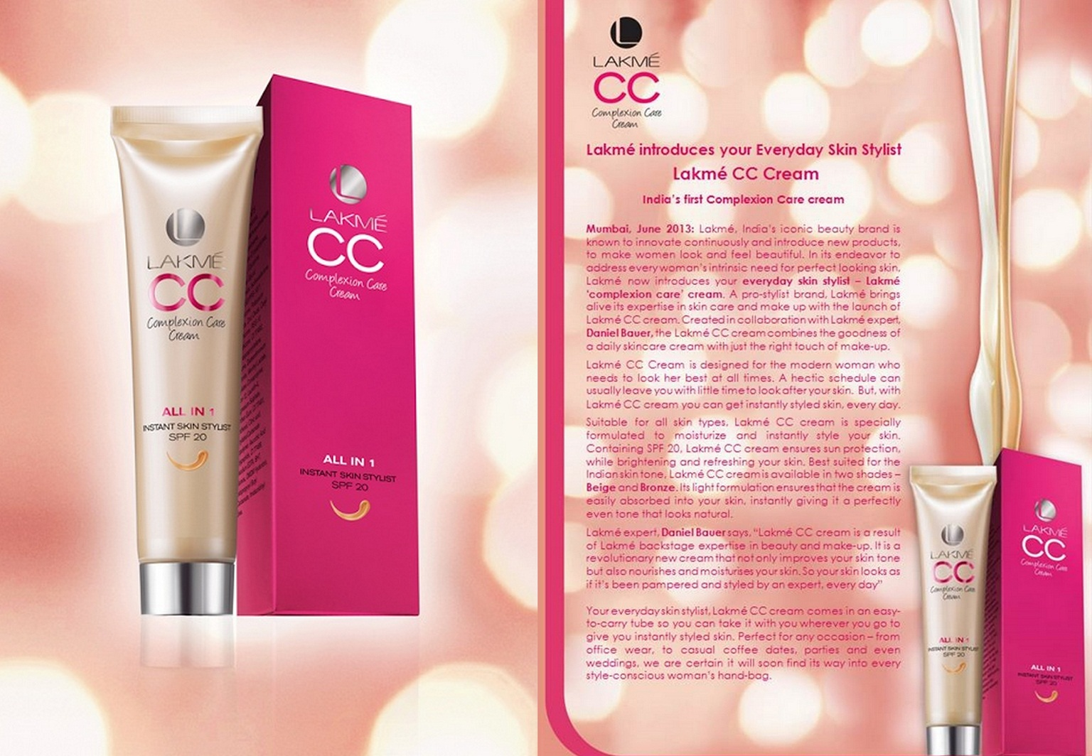 First CC Cream In India by Lakme - Lakme Complexion Care