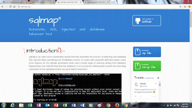 SQLMAP, cara menjalankan sqlmap pada windows, cara install sqlmap pada windows, tutorial sqlmap