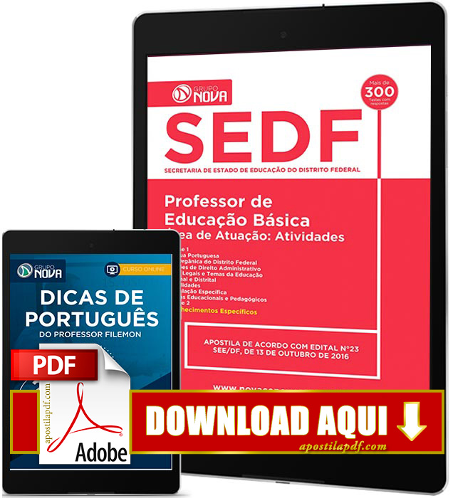 Apostila SEDF 2016 PDF Download Professor de Educação Básica