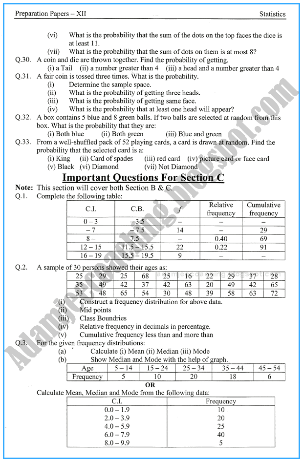statistics-12th-adamjee-coaching-guess-paper-2017-commerce-group