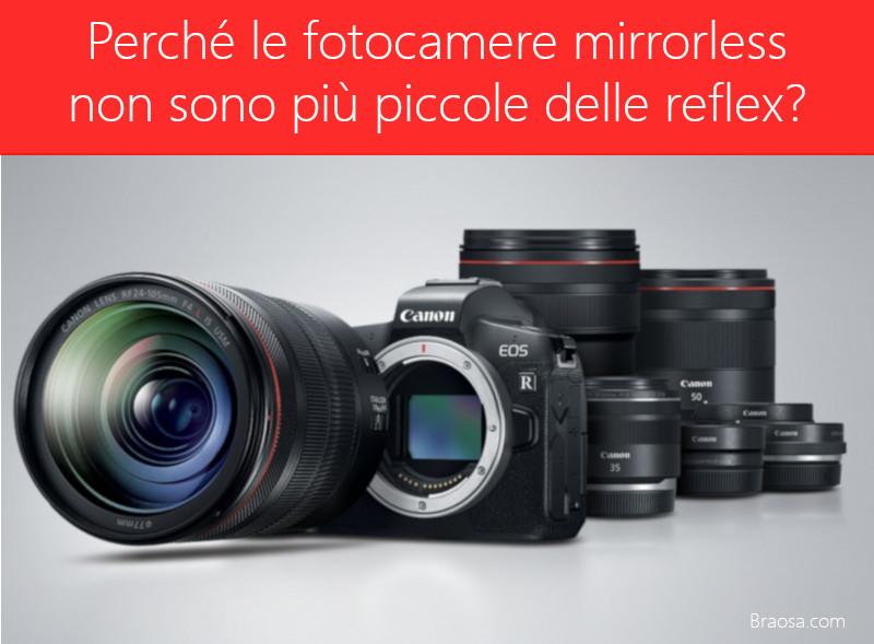 Perché le fotocamere mirrorless non sono più piccole delle reflex?