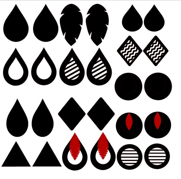 Download Free svgs for Faux Leather Earrings