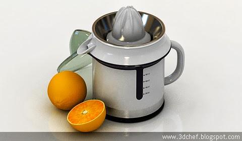 free 3d model orange juicer