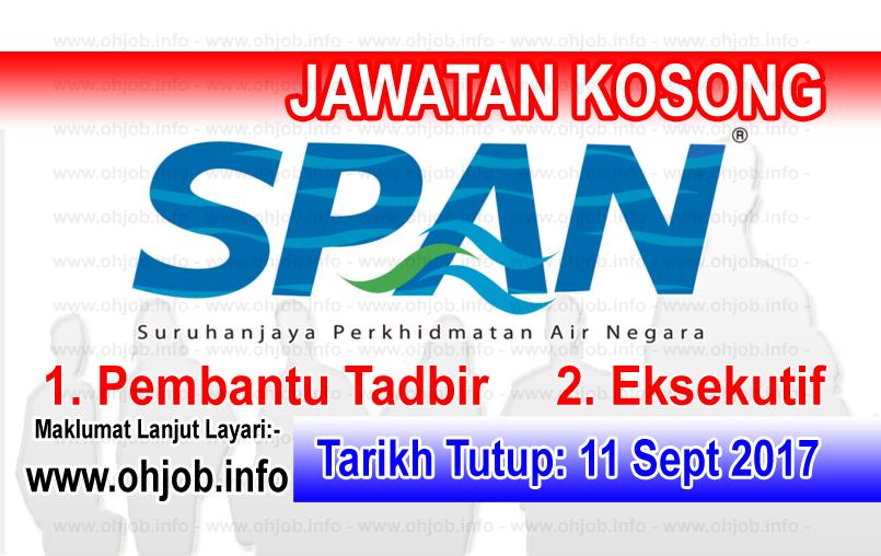Jawatan Kerja Kosong Suruhanjaya Perkhidmatan Air Negara - SPAN logo www.ohjob.info september 2017