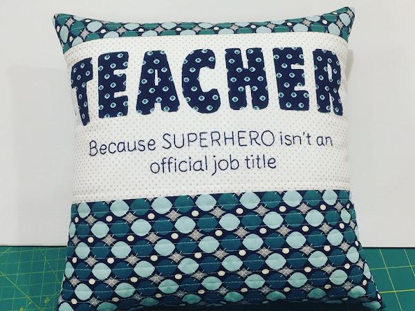 Teacher Appreciation Pillow (FREE PATTERN)