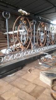 Pembuatan, Railing, Balkon, Besi, Tempa, Klasik, Sederhana