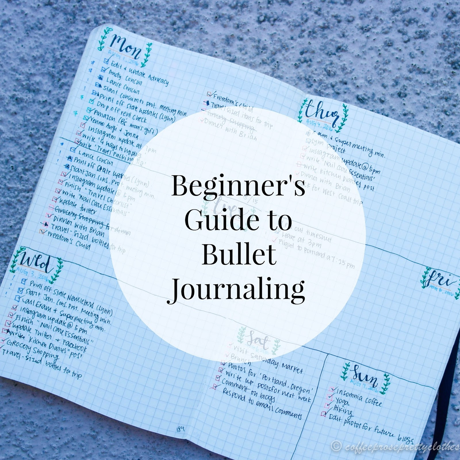 Beginner's Guide to Bullet Journaling