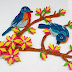 Quilled Birds Designs For Wall Decorations | Paper Quilling Art