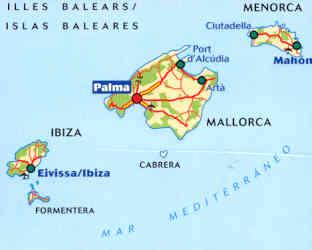 Cartina Geografica Spagna E Formentera.Ibiza Amica Posizione Geografica